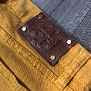 Tory Burch Jeans - Tory Burch ivy skinny mustard yellow jeans 27